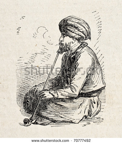 Figure 4 turkish-man-smoking-long-pipe